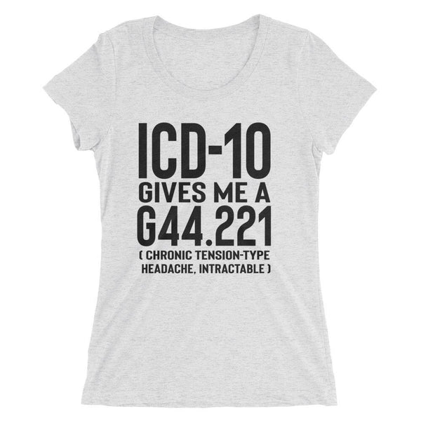 ICD-10 Medical Coder Form-fitting Ladies' short sleeve t-shirt