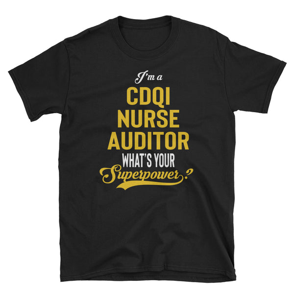 CDI + Quality Nurse Auditor - Cotton Short-Sleeve Unisex T-Shirt