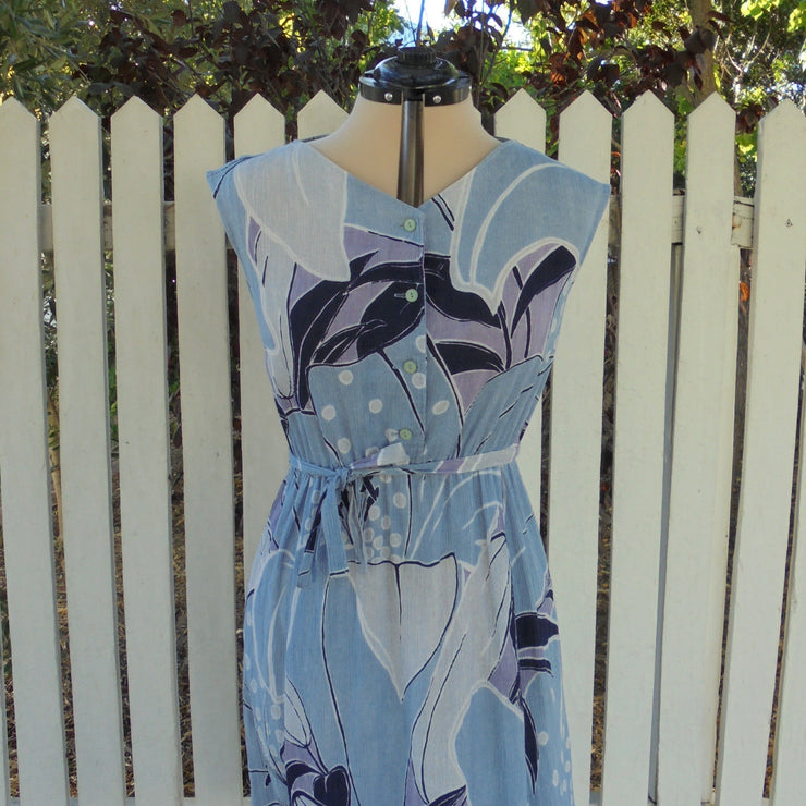 Blue cotton dress (M)-Dress-Mint Preloved