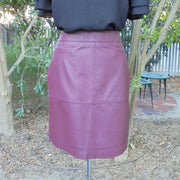 Jacqui E leather skirt NWT (14)-Skirt-Mint Preloved