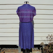 Purple vintage dress (L)