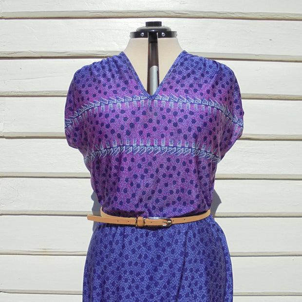 Purple vintage dress (L)-Dress-Mint Preloved
