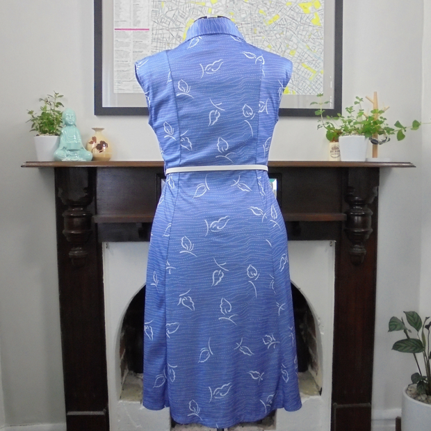 Periwinkle vintage dress (L)