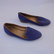 Gorman blue suede flats (39)-Shoes-Mint Preloved