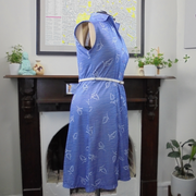 Periwinkle vintage dress (L)-Dress-Mint Preloved