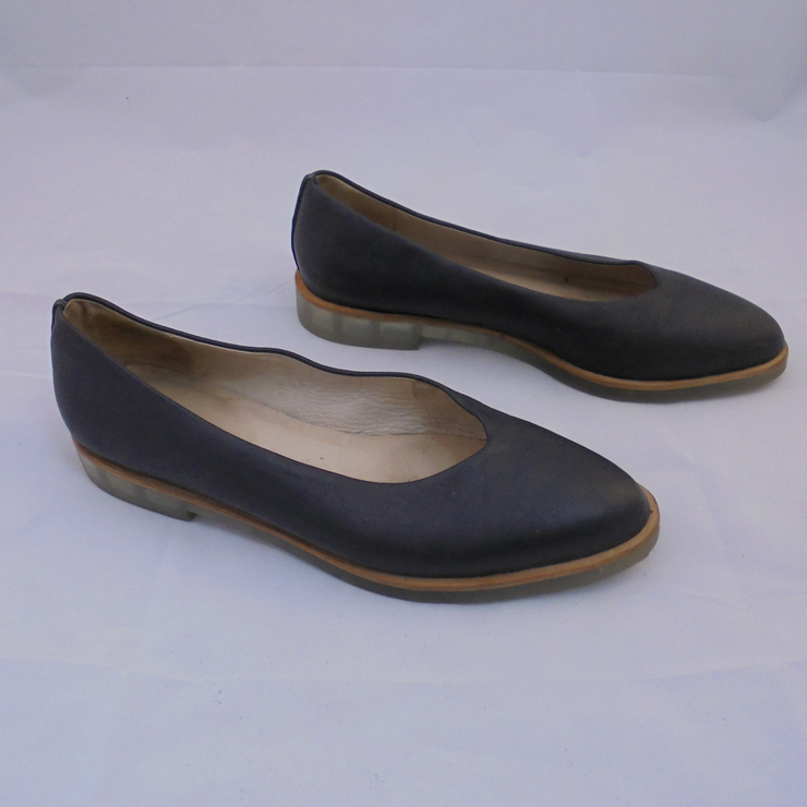 Gorman black leather flats (40)-Shoes-Mint Preloved