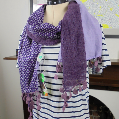 Purple Lettuce boho scarf NWT-Accessory-Mint Preloved