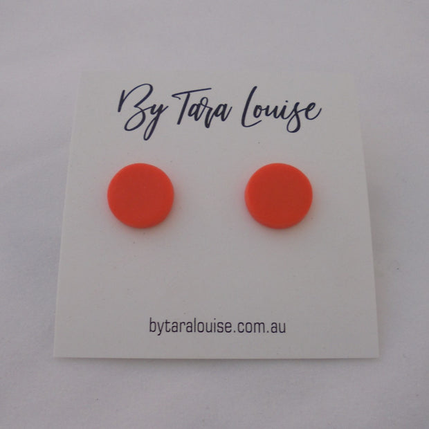 Orange Stud Earrings-Accessory-Mint Preloved