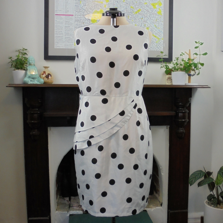 Liz Jordan polka dot dress (XL)-Dress-Mint Preloved