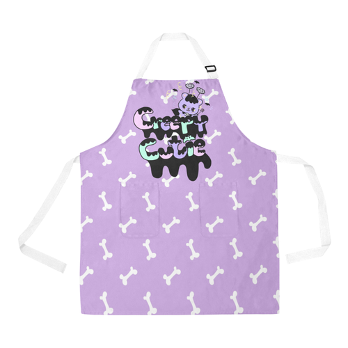 Creepy Cutie Halloween Vampire Bear Yami Kawaii Apron (Made to Order)