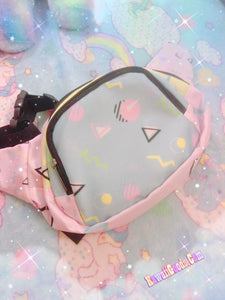 Geometric Barbie Inspired 80s Yume Kawaii Fanny Pack (Made to Order)