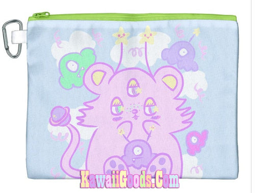Lili the alien cutie Cosmetic Pouch (Made to Order)