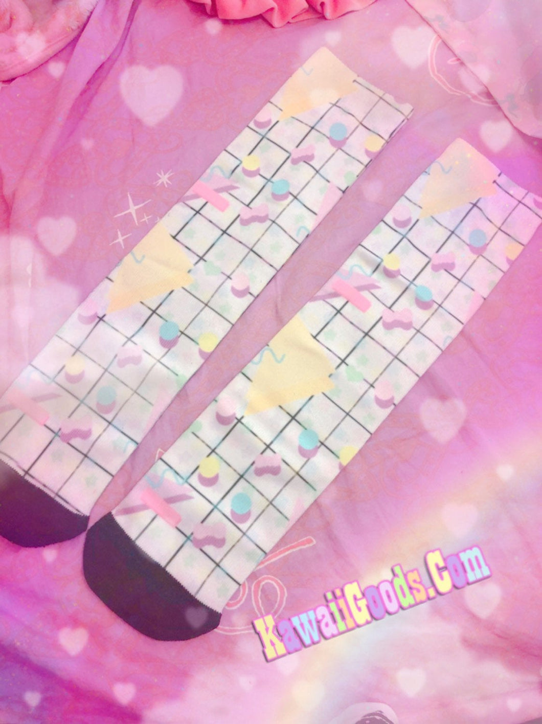 Geometric 80s Yume Kawaii Socks (Made to Order)