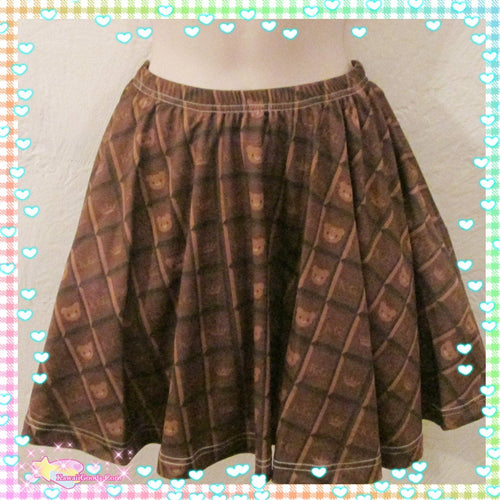 Choco Royal Kuma Skirt (Made to Order)