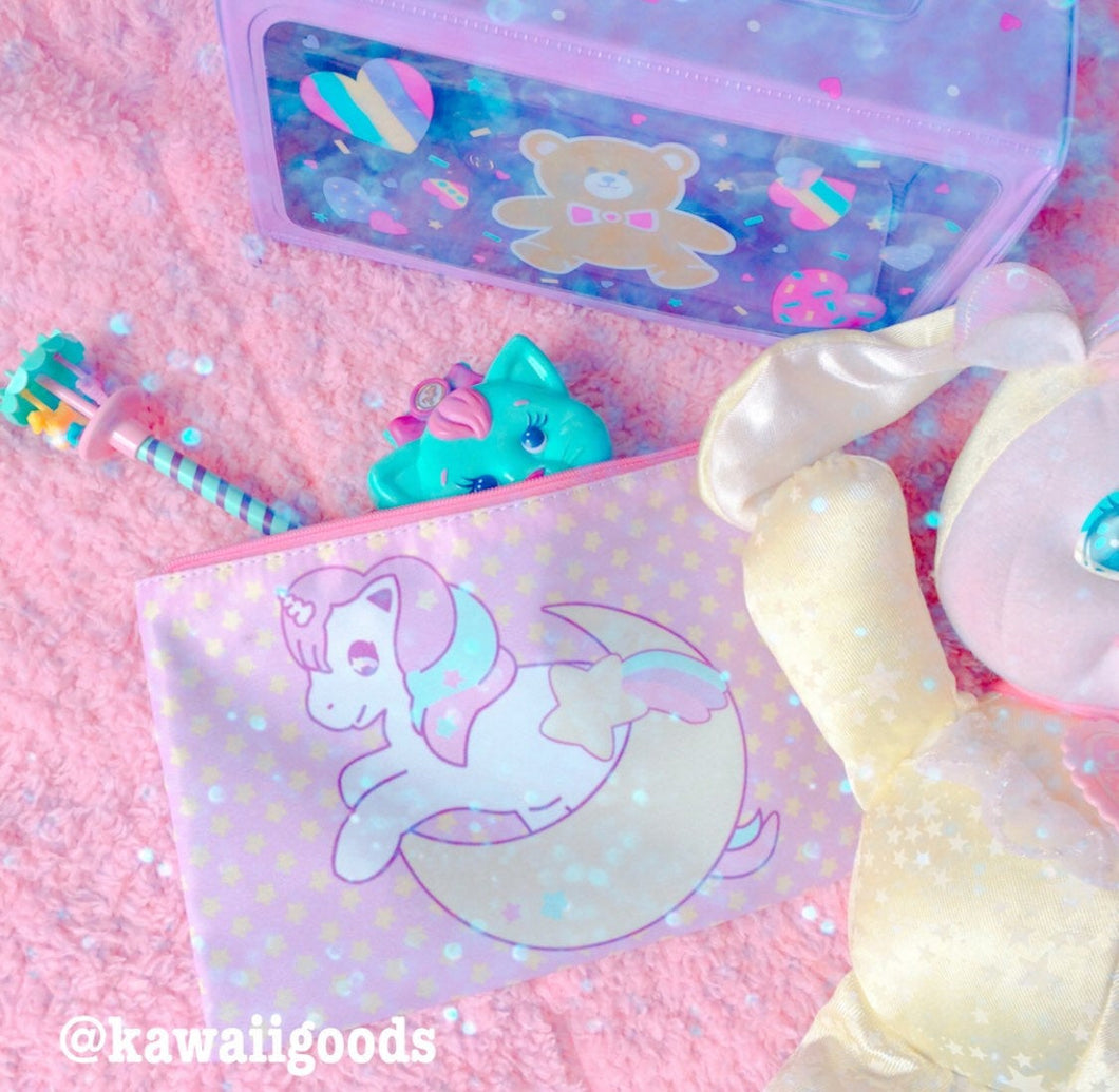 Sweetie Dreams Unicorn Cosmetic Pouch (Made to Order)