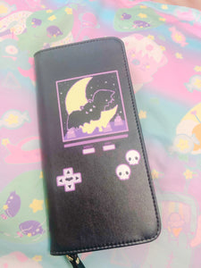 Creepy Video Game Bat Pastel Goth Wallet (Made to Order)