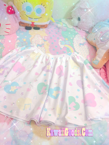 Heart Confetti Party Yume Kawaii Regular Skirt (Made to Order)
