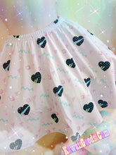 Load image into Gallery viewer, Geometric 80s heart Kawaii Skirt (Made to Order)