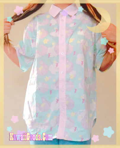 Warrior Killer Cuties Bunny and Bear Blouse (Made to Order)