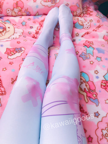 Painfully Hurt Bunny Bandage Tights (Made to Order)