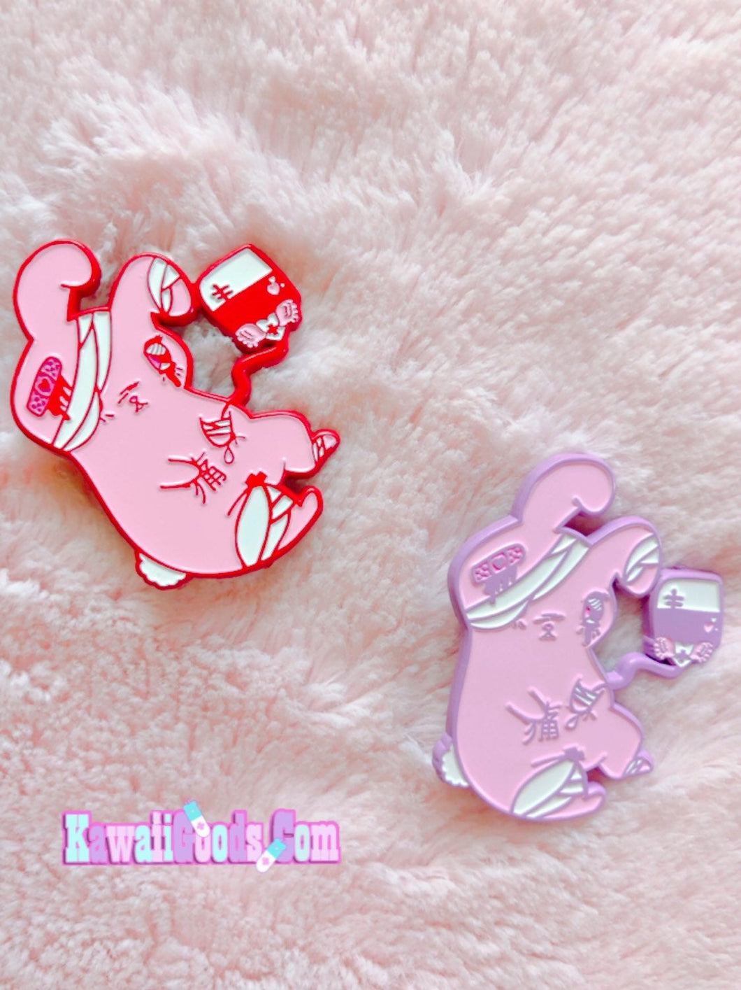 Painfully Hurt Bunny Enamel Pin
