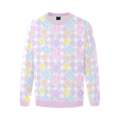 Pastel Alien Gummy Bears  KG Gingham Yume kawaii Sweater (Made to Order)