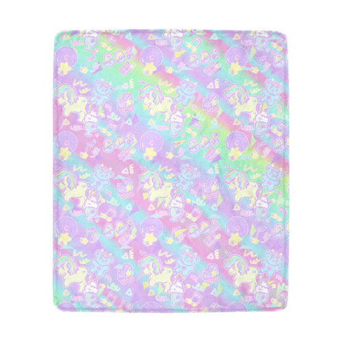Sweetie Dreams and Trixie 80s Yume Kawaii Fairy Kei Fleece Blanket (Made to Order)