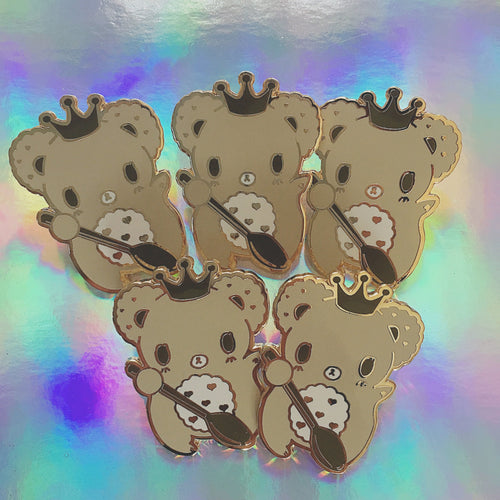 Choco Biscuit Royal Bear Enamel Pin
