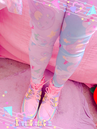 Warrior Killer Cuties Bunny and Bear Yume Kawaii  Leggings (Made to Order)