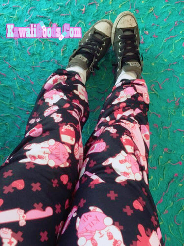 Painfully Hurt Bunny Jogger pants KILL ME (Made to Order)