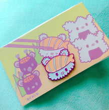 Load image into Gallery viewer, Sushi Bear Enamel Pin