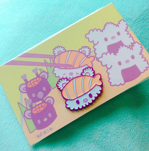 Sushi Bear Enamel Pin