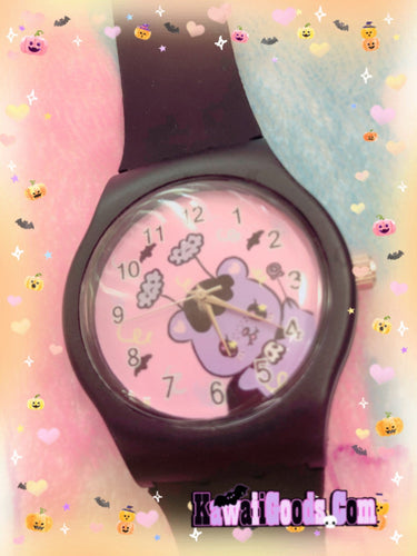 Creepy Emotion Vampire Bear Pastel Goth Watch (Made to Order)
