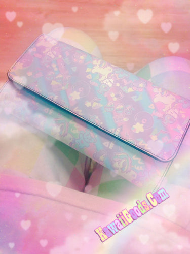Sweetie Dreams and Trixie 80s Parfait Fairykei Yume Kawaii Pastel Wallet (Made to Order)
