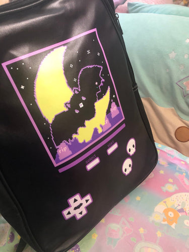 Creepy Bat Video Game Bag (Made to Order)