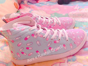 Falling Pills Aini x Kawaii Goods Collab Menhera Shoes Men (Made to Order)