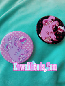 Yami Kawaii Painfully Hurt Abby Bunny Button