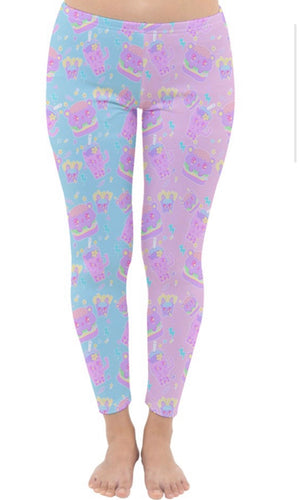 Dreamy Alien Junk Food Party Leggings ver.1 (Made to Order)