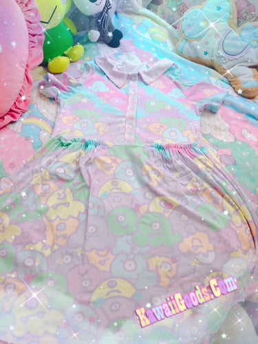 Alien Ice Cream Scoop Monster Party Dress  (Made to Order)