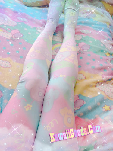 Alien Ice Cream Scoops Monster Party Tights Leggings  (Made to Order)