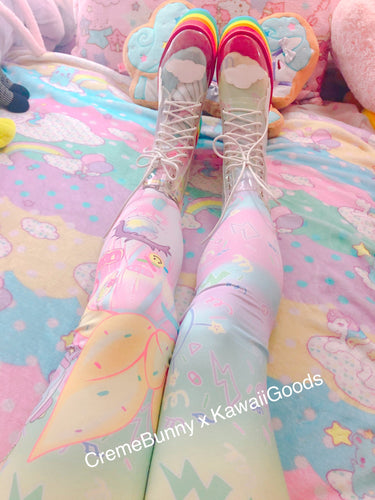 Creme Bunny x Kawaii Goods Decora Girl Party Tights and Leggings (Made to Order)