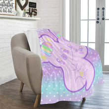 Load image into Gallery viewer, Emotion Bear and Yami Bunny two headed creature Blanket (Made to Order)