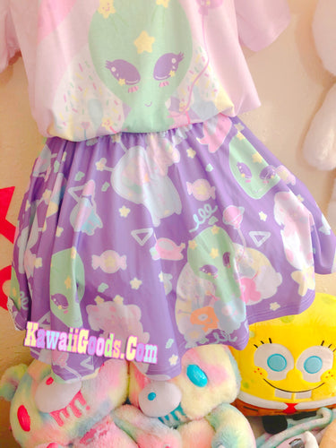 Alien Cutie Reba the alien and Kikko TV skirt (Made to Order)