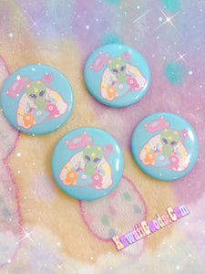 Alien Cutie Reba the alien Button, Space Button, Kawaii Button