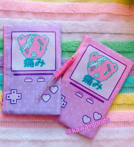 Hurt Bear Game Yami Kawaii Cosmetic Pouch (Made to Order)