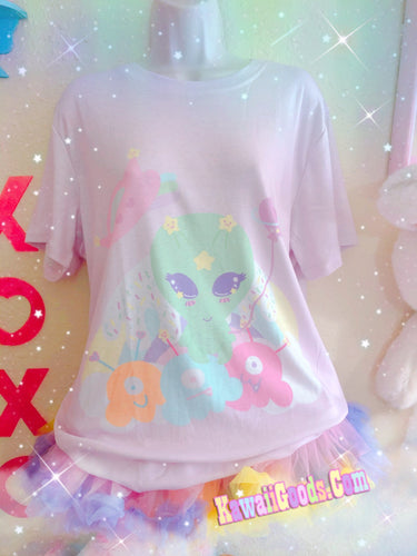 Alien Cutie Reba the alien and Alien Ice Cream Scoops Monster Top (Made to Order)