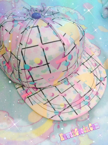 Geometric 80s Yume Kawaii Fairykei Hat (Made to Order)