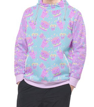 Dreamy Alien Junk Food Party Hoodie Pocket Sweater  (Made to Order)