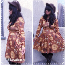 Load image into Gallery viewer, Eat Me Cookie Biscuit Long Sleeve Dress (Made to Order)