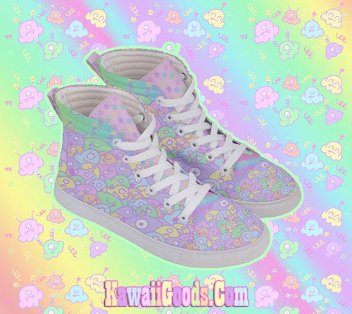 Alien Ice Cream Scoop Monster Party Shoes, Fairy Kei Shoes  Mens  (Made to Order)